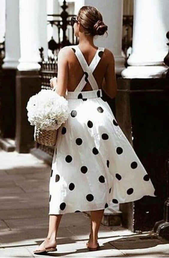big black polka dot dress perfect for summer
