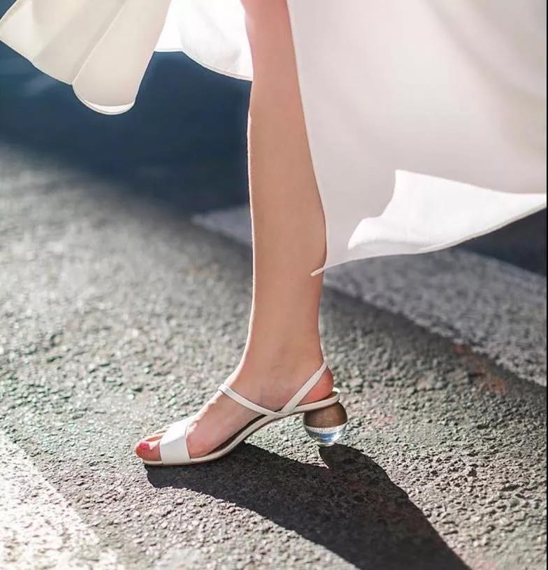 characteristic summer sandals with unique heels