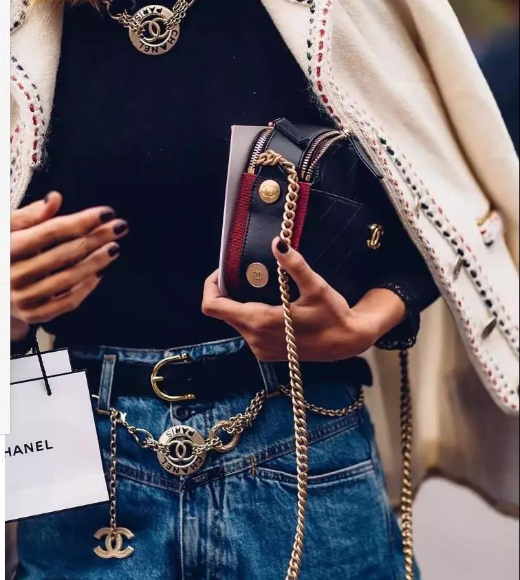 charming Chanel waist chain to love