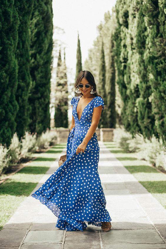 charming timeless blue polka dot piece