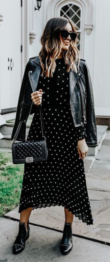 chic black polka dot maxi dress for summer