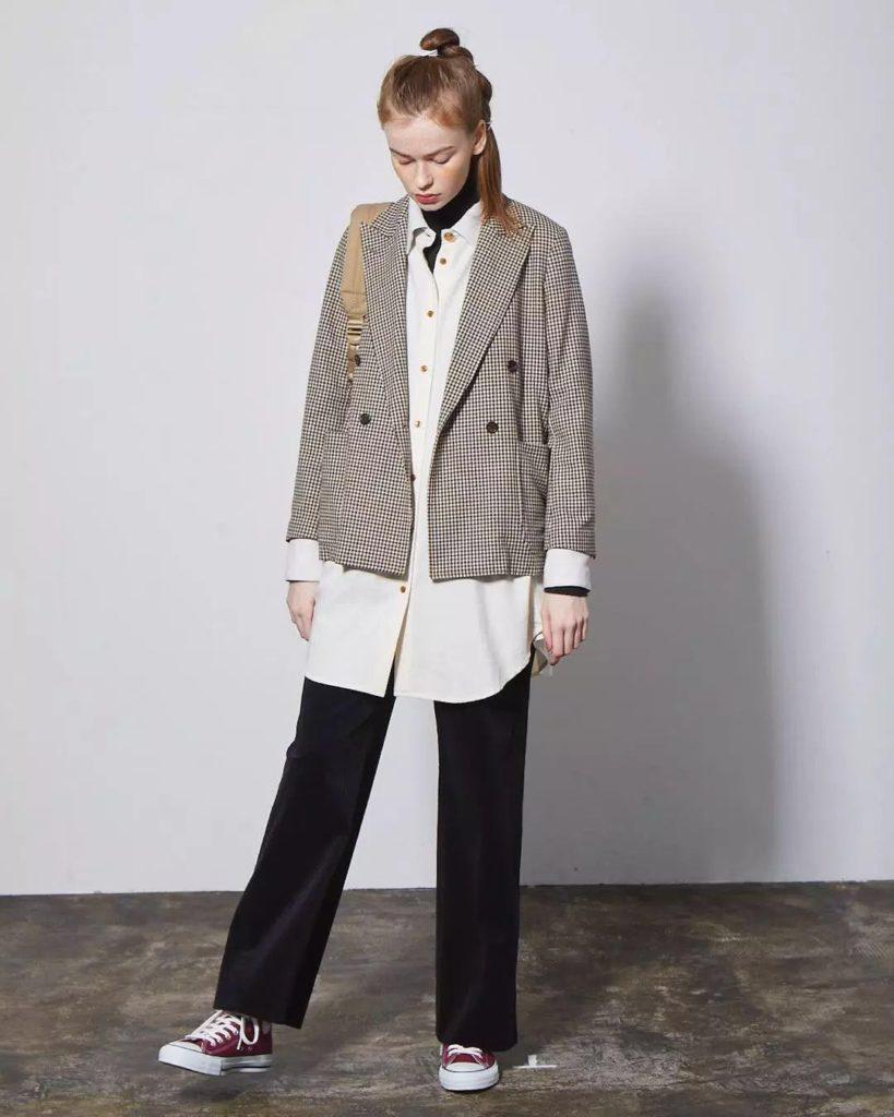 creative long shirt with a coat