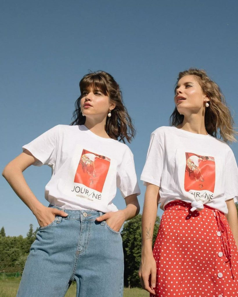 iconic graphic T-shirt are perfect with skirts