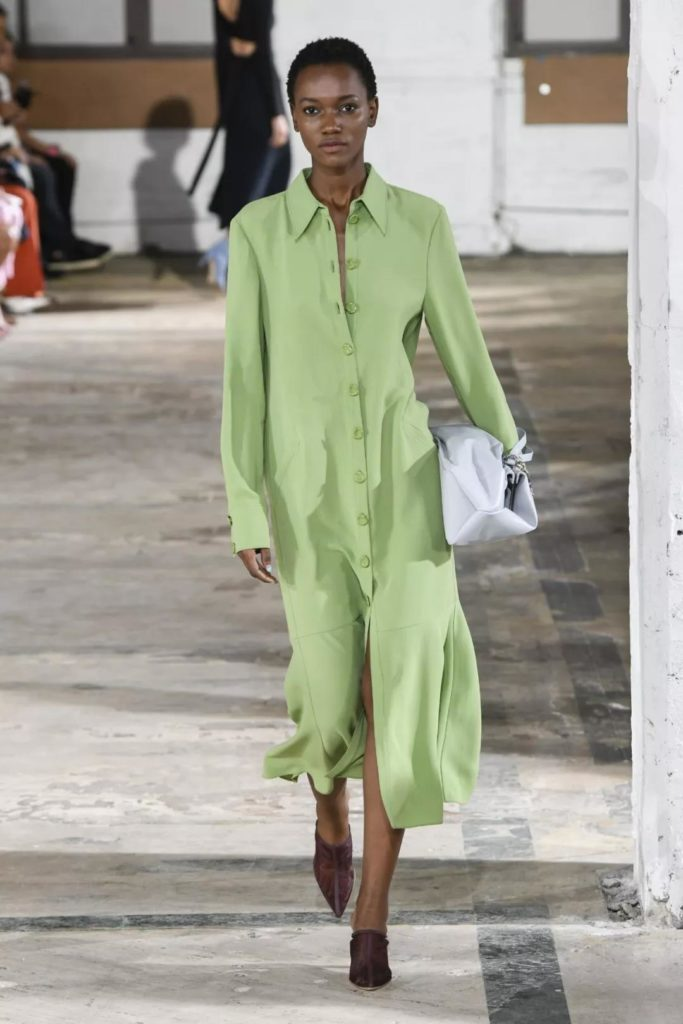 casual and comfortable avocado green dress