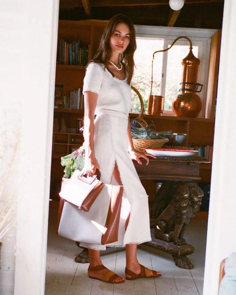 casual and stylish white dress