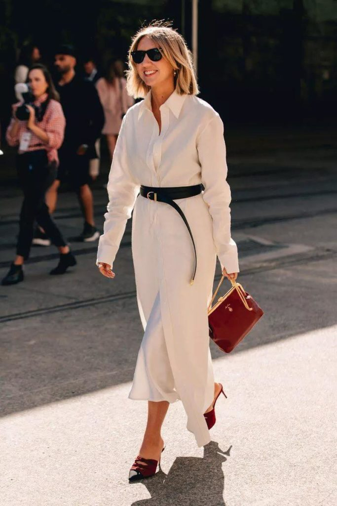 chic white shirt dress too charming not to wear