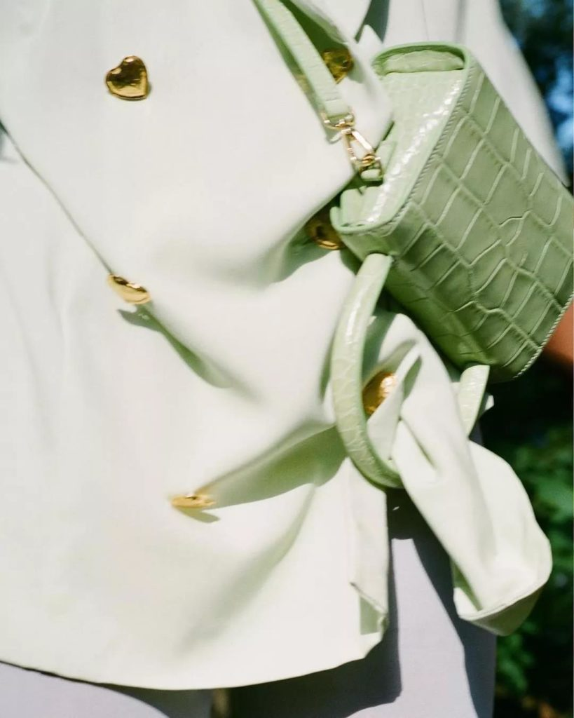 cute and stylish avocado green bag from By Far