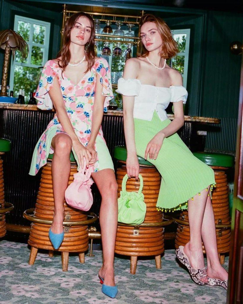 modern romantic avocado green skirt
