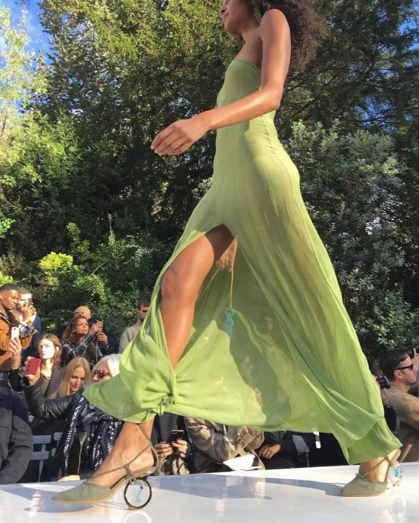 sexy avocado dress from Jacquemus summer 2019