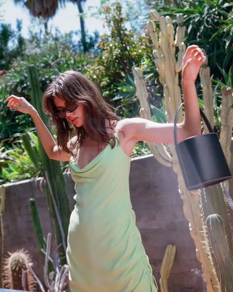 silk avocado dress to rock