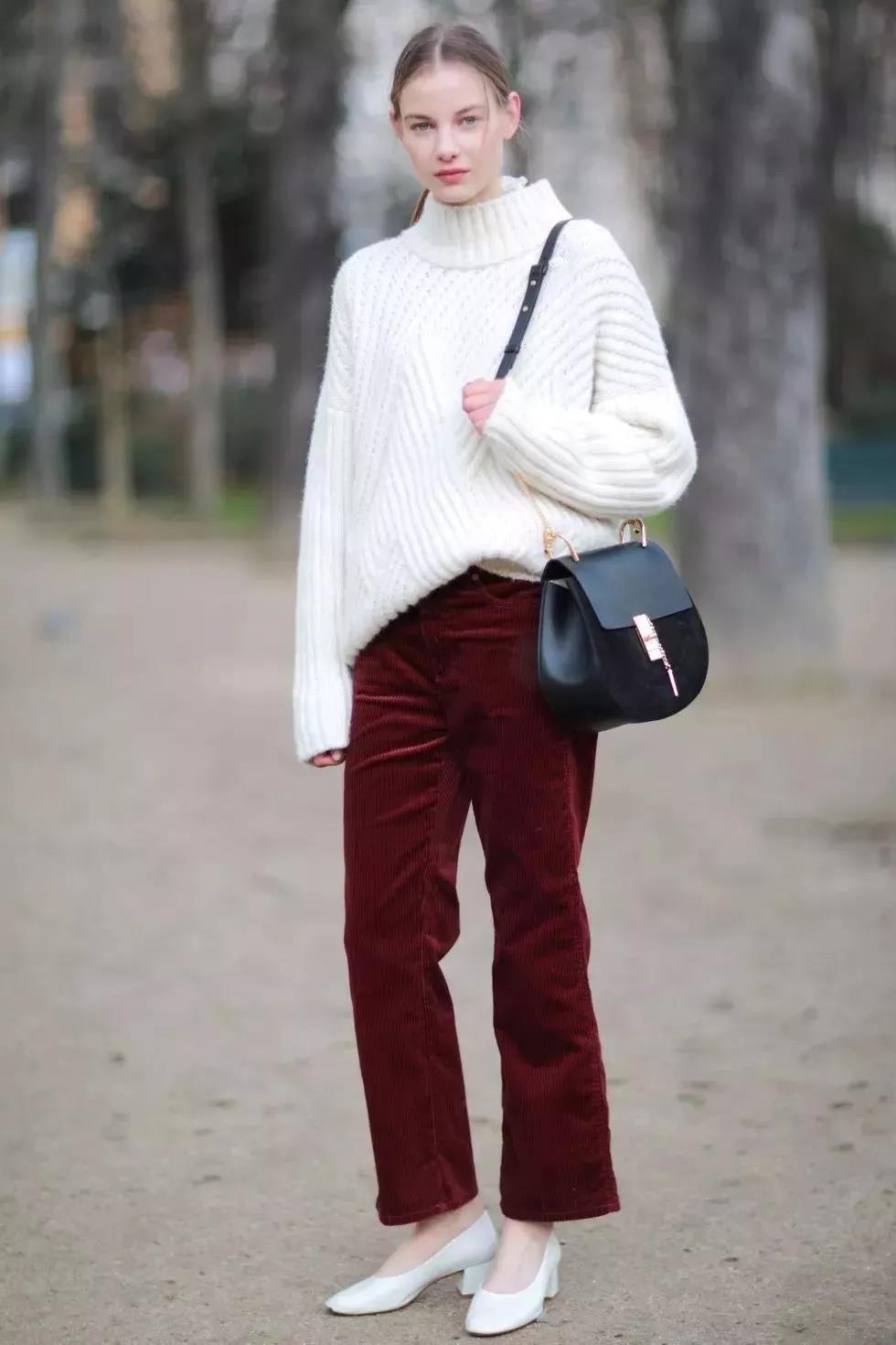 Eye-catching burgundy winter pants