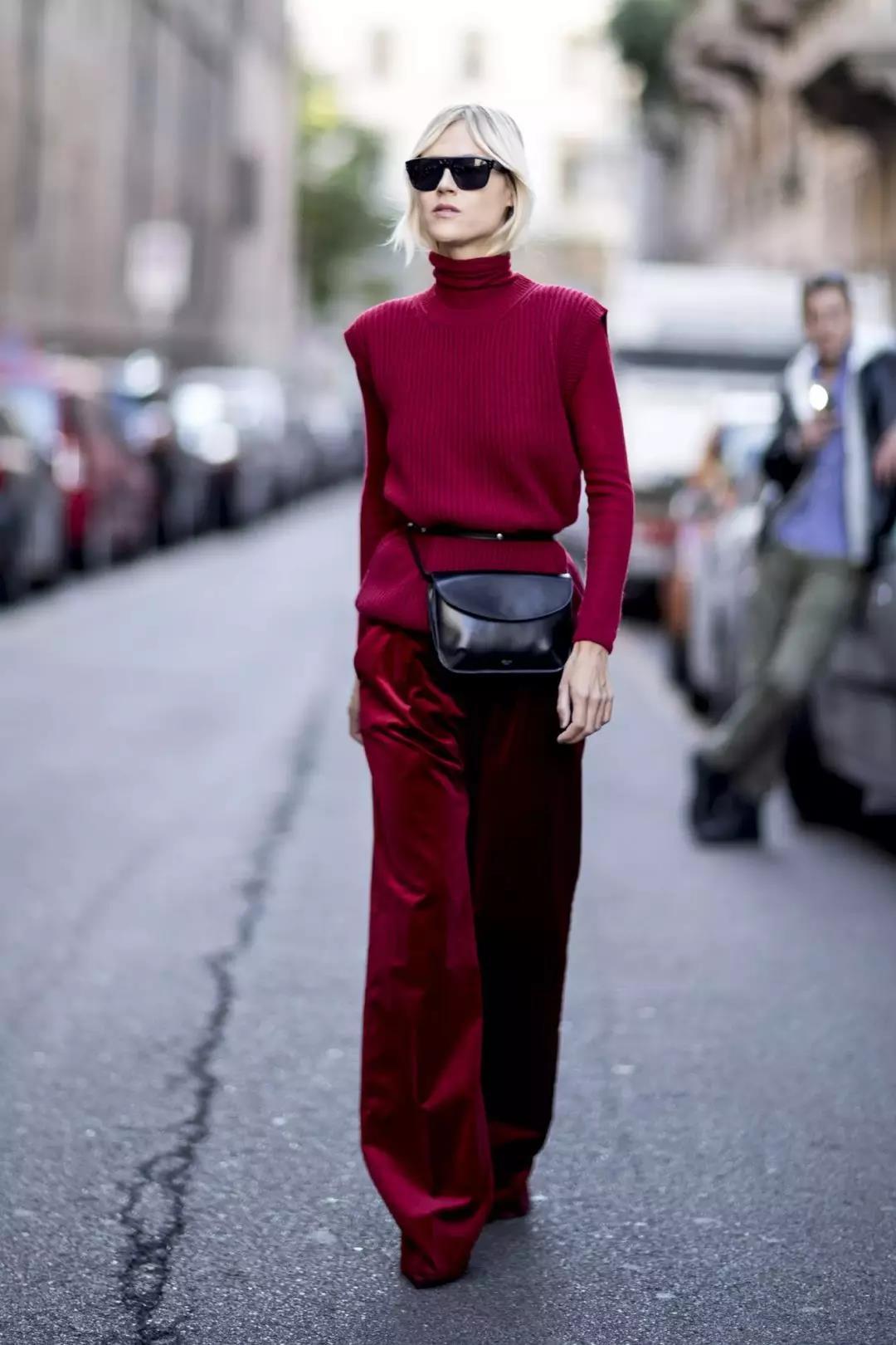 Handsome long burgundy pants for any season