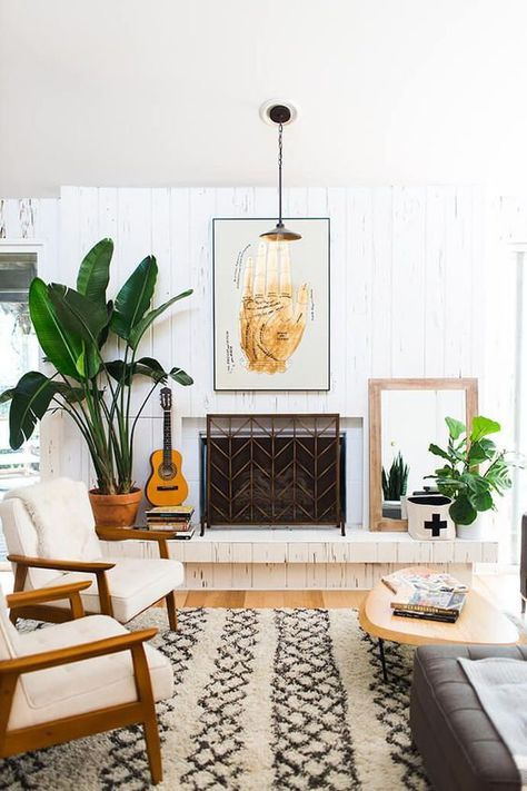 Contemporary Living Room Greenery Decoration to Inspire