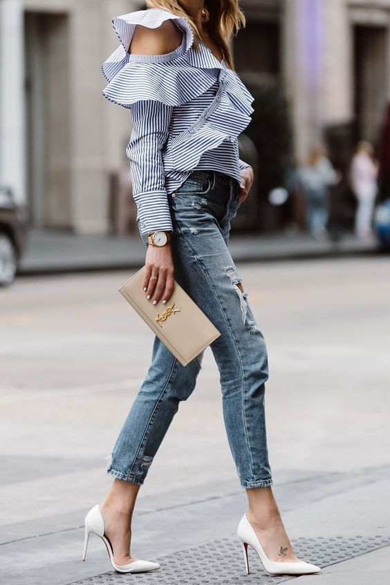 Awesome Jeans Outfits with High Heels You Must Have