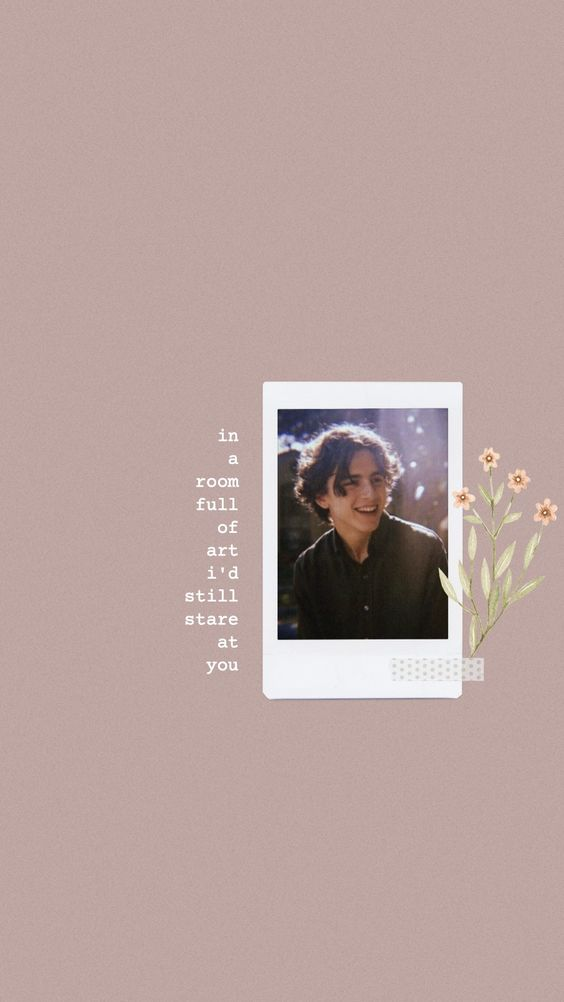Aesthetic and Vintage Timothee Chalamet iPhone Wallpaper Ideas