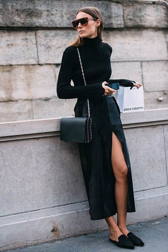 Classy All Black Outfits You Must Have